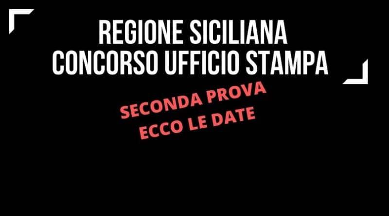 Ufficio stampa regione siciliana seconda prova